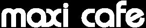 MaxiCafe logo valkoinen