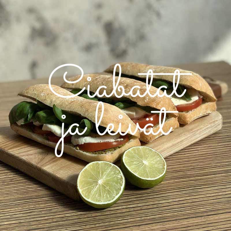 MaxiCafe ciabatat ja leivät